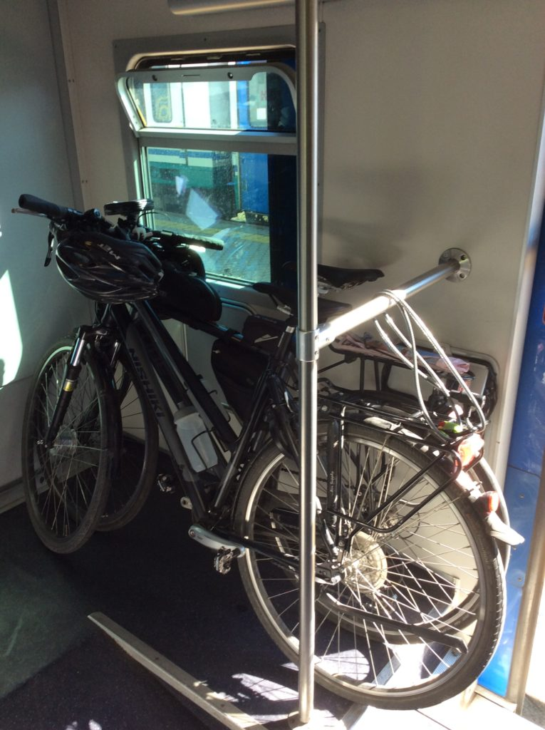 Fietsen in de trein Italië