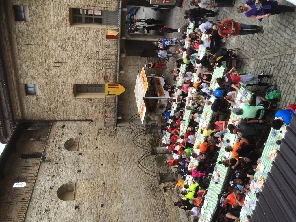 Afsluitend eten in het kasteel van Monastero Bormida