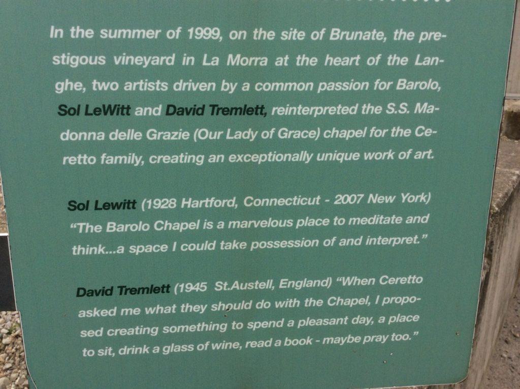 La Cappella di Sol LeWitt e David Tremlett
