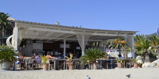 spotorno spiaggia strandtent